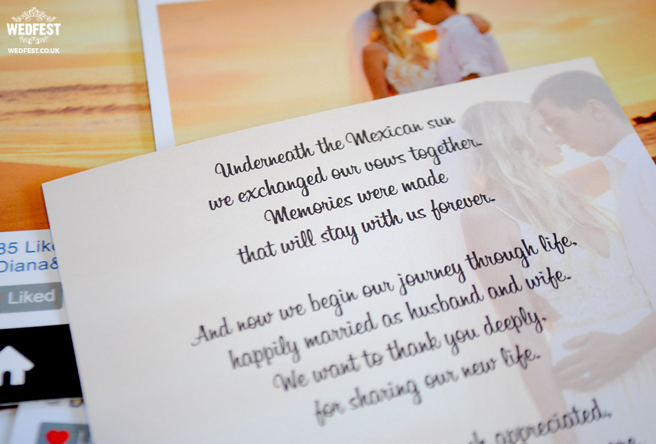 wedding thank you poem cards    wwwwedfest instagram - thank you letter for scholarship award