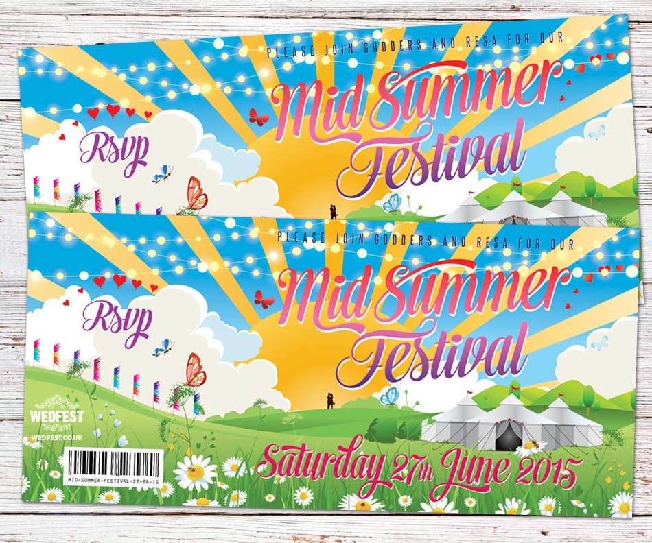 Summer Themed Wedding Invitations WEDFEST
