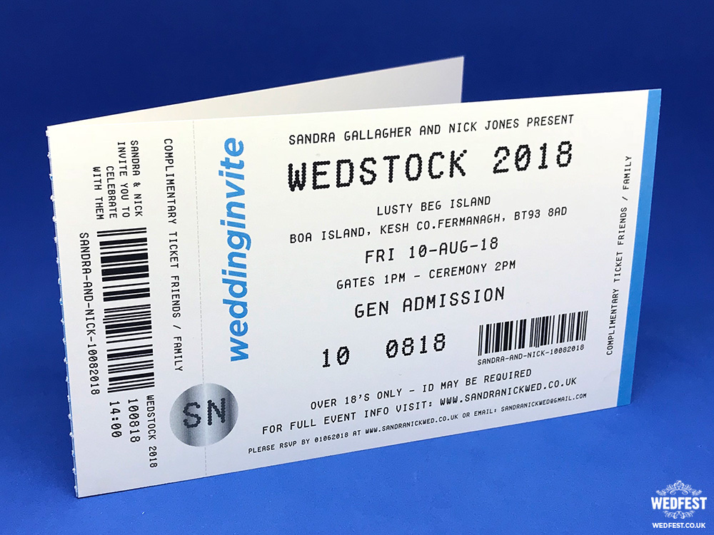 Concert Ticket Invitations WEDFEST - concert ticket invitations