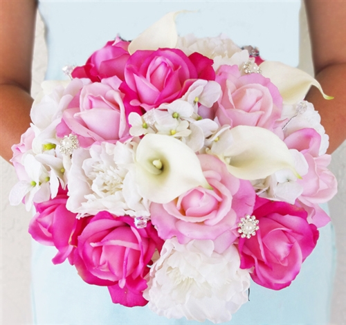 Orange Fall Peonies Wallpaper White And Hot Pink Roses Callas Hydrangeas And Peonies