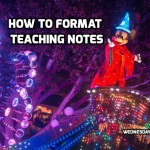 How to format teaching notes