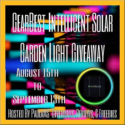 Check Out The #GearBest Intelligent Solar Garden Light #Giveaway Before It Ends 9/13