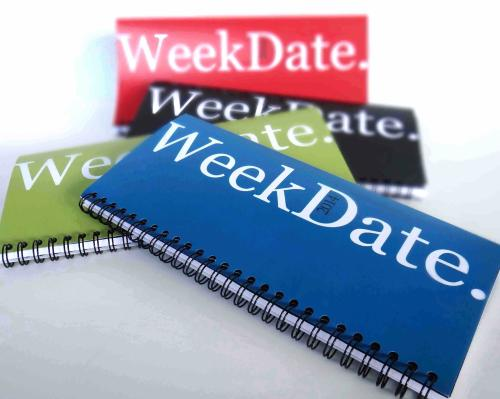 WeekDate, Best Paper Calendar, Weekly Planner, Organizer Calendar