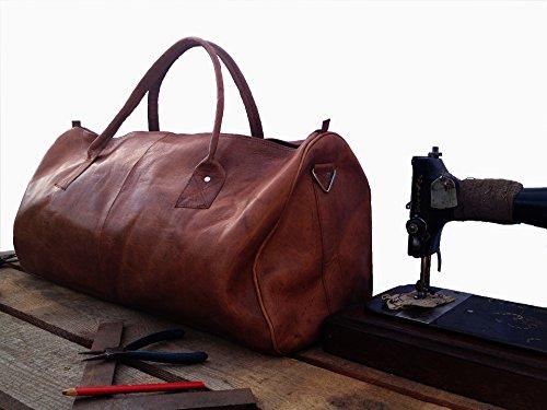 vintage design weekender tasche leder brau weekender bag. Black Bedroom Furniture Sets. Home Design Ideas