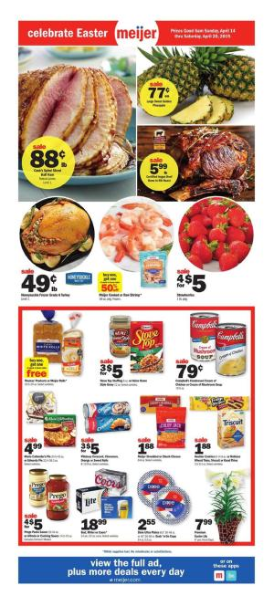 Meijer Weekly Ad Apr 14 - 20, 2019 Preview and Deals