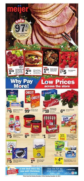 Meijer Weekly Ad Deals December 10 - 16, 2017