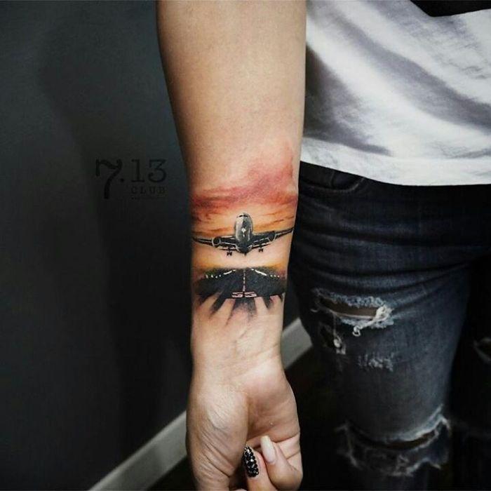 Plane 3d Wallpaper 36 Tatuagens Para Quem Ama Viajar We Fashion Trends