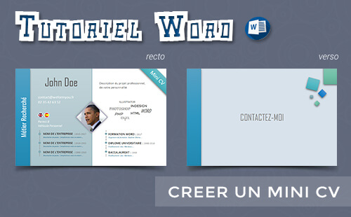 comment creer un mini cv