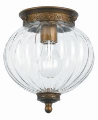 Crystorama Antique Brass Camden 1 Light Flush Mount ...
