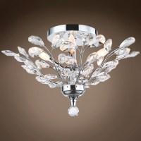 [crystal ceiling light fixtures flush mount] - 28 images ...