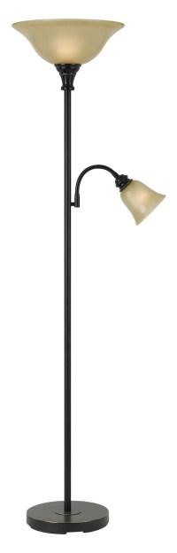 CAL Lighting Dark Bronze 2 Light Pedestal Base Torchier ...