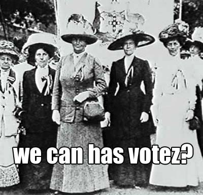 "MRA: Women Couldn't Vote.That Was ""Oppression?"""