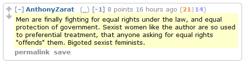 "The Men""s Rights subreddit weighs in on the ""Why is Reddit So Anti-Woman?"" debate."