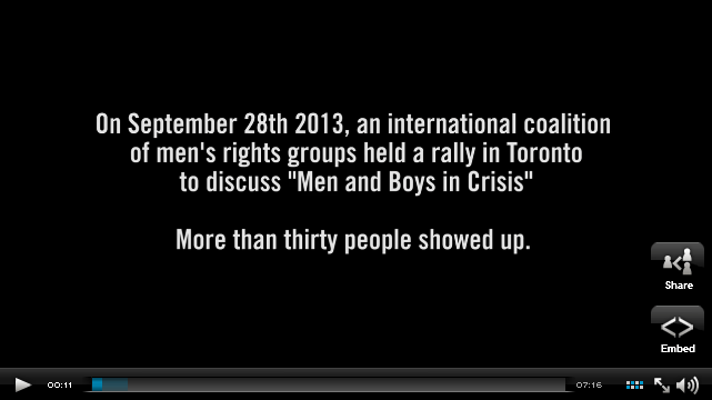 Turns out VICE made a video about that Men's Rights rally in Toronto. GO WATCH IT.
