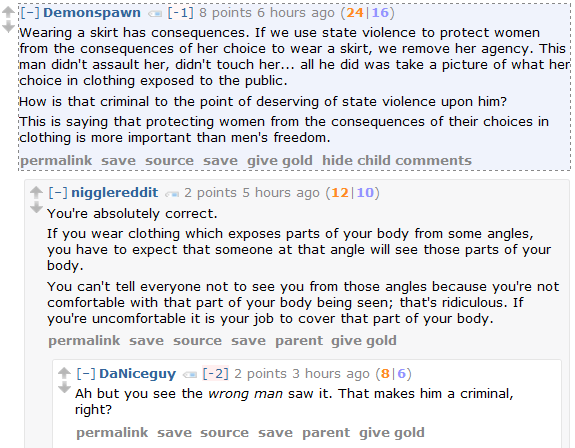 Wearing a Skirt Has Consequences: A Men's Rights Redditor defends a man's sacred right to take upskirt photos