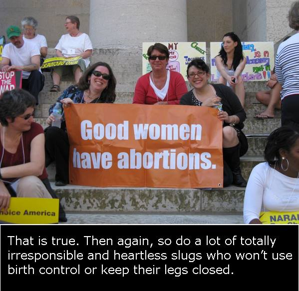 "AVFM: ""Good women have abortions. So do a lot of … heartless slugs who won't use birth control or keep their legs closed."""