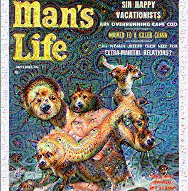 Deep Dream Makes These Awesomely Ridiculous Vintage Men's Magazine Covers Even More Awesomely Ridiculous