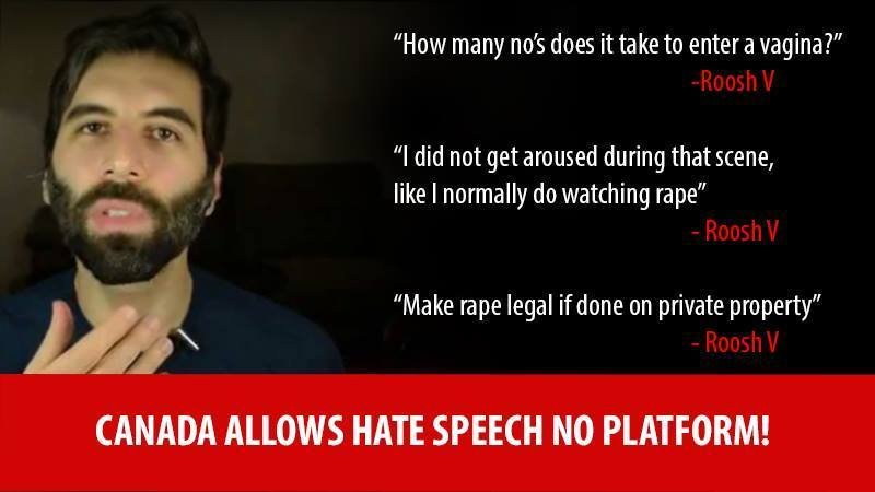 Petition to keep sleazeball PUA Roosh V out of Canada as a disseminator of hate