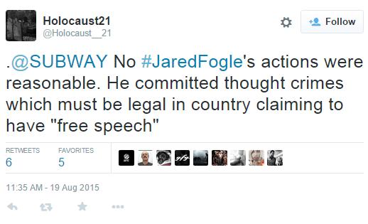 Jared Fogle: Men's Rights martyr?