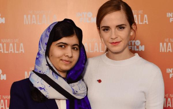 Malala Yousafzai and Emma Watson