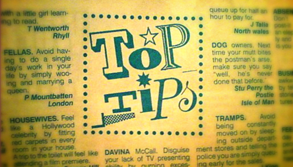 Tip top advice from Viz