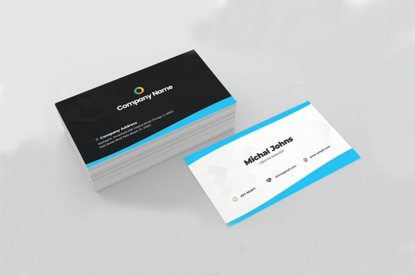 Black  White Professional Business Card Template weidea