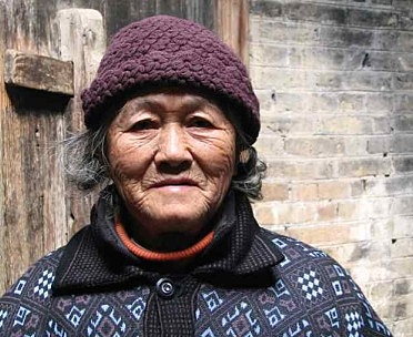 old chinese woman in beanie