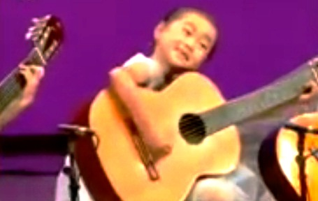 North Korea Shows Off Its Musical Talent: Kids with Adult-Sized Guitars