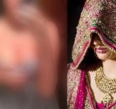 Indian bride and blurred selfie photo