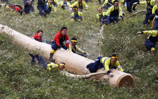 Religious Festival Promotes Riding Wood