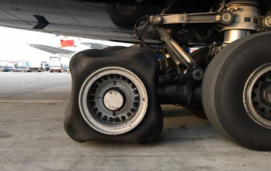 'Squ-air' Plane Wheel Causes Stir