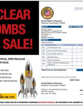 South Korea Nuclear weapon advertisement for sale