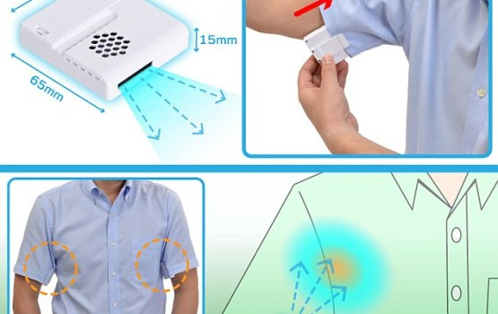 Armpit Fan Blows Away Sweat And Odors