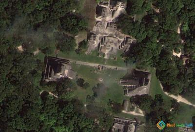Gran Plaza, Tikal National Park, Tikal, Guatemala