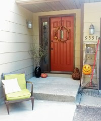 Fall Front Entrance Decor - Welcome to the Woods