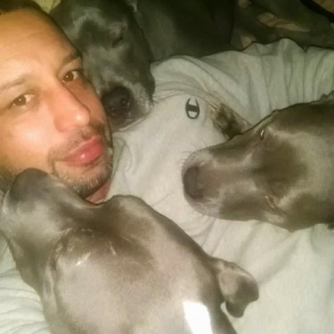Rob Vassilirakis with his 3 babies.