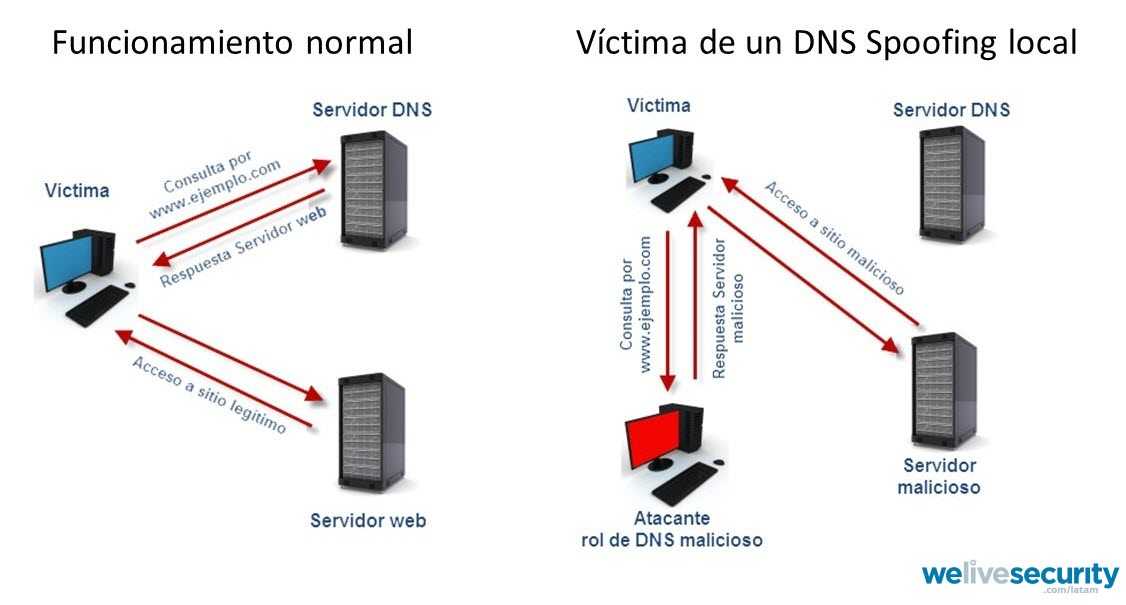 DNS attacks How they try to direct you to fake pages WeLiveSecurity