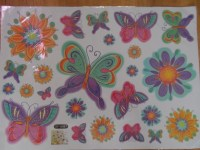 Butterflies and Flowers Large Nursery Wall Sticker ...