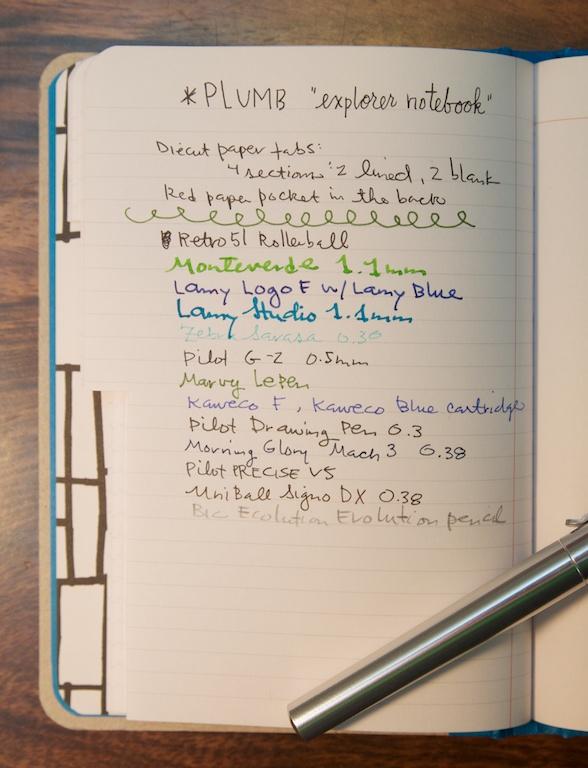Explorer Notebook writing sample