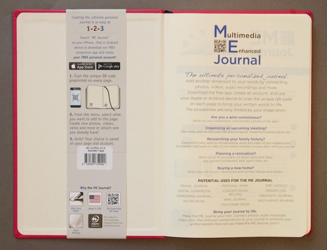 ME Journal from Quo Vadis inside cover