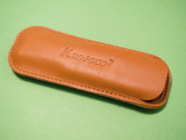 Kaweco Cognac Leather 2-Pen Holder