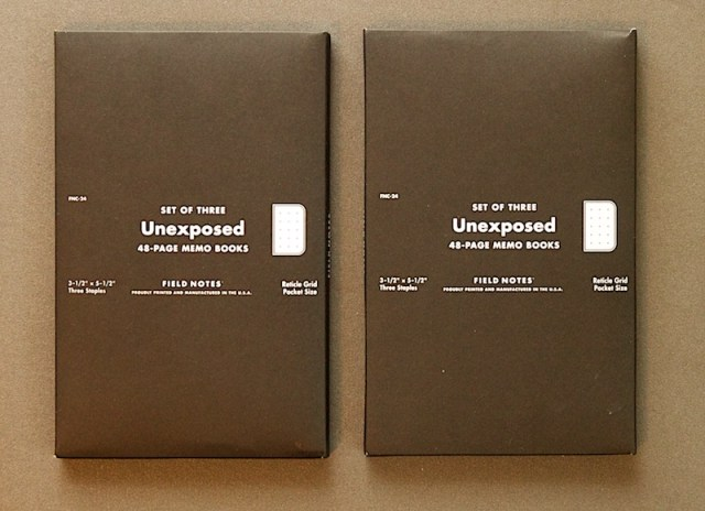 Field Notes Unexposed packaging