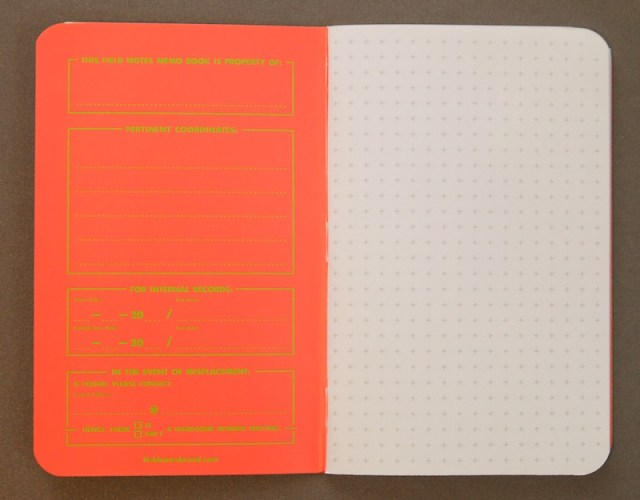 Field Notes Exposed inner cover