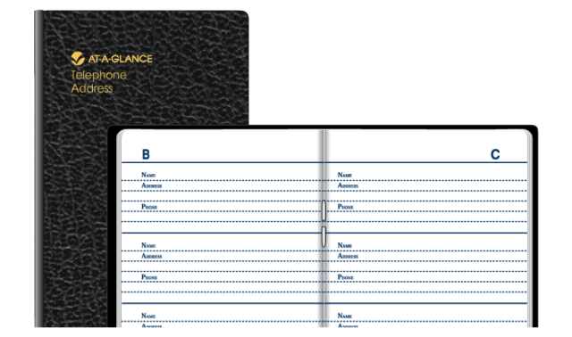 At-A-Glance Pocket Telephone Address Book