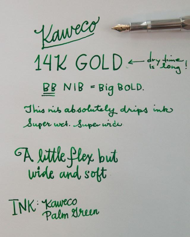 Kaweco 14K Gold BB Nib