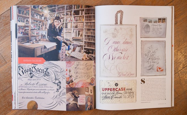 Uppercase Magazine #23 Calligraphy Feature