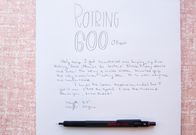 Rotring 600 0.5mm mechanical pencil