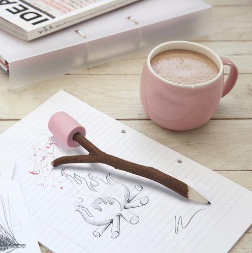 marshmallow pencil