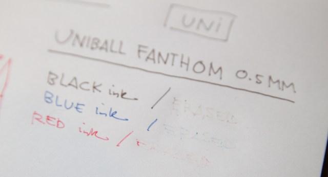 Uni Fanthom Erasable Pens