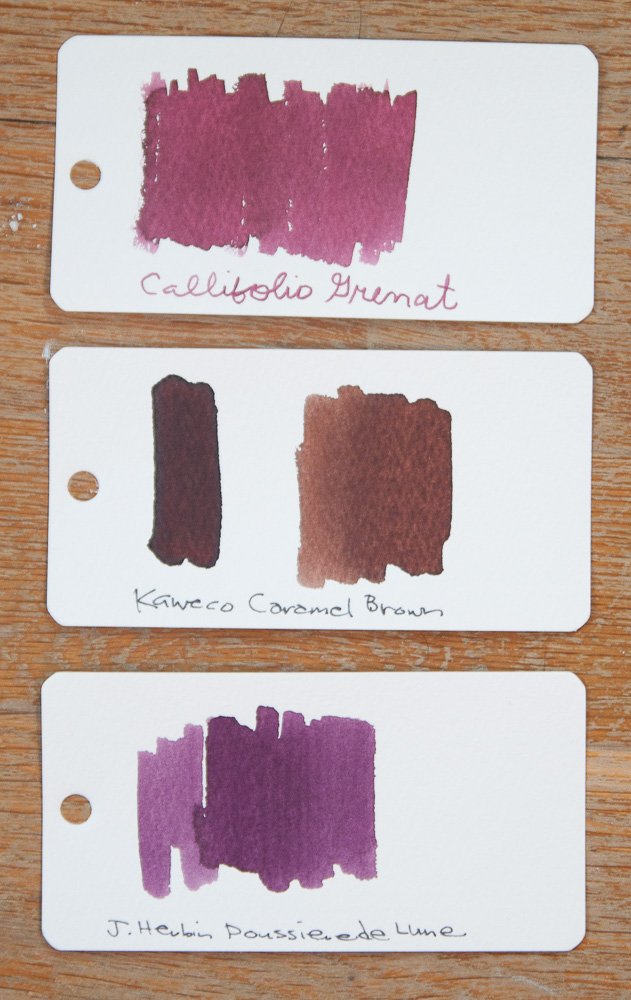 Callifolio Grenat ink comparison